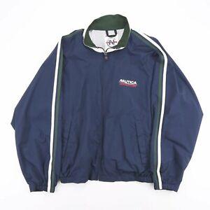 Vintage NAUTICA Competition Navy Blue Big Logo Shell Jacket Men's Size XL