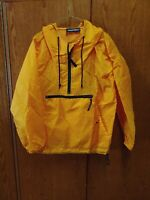 Vintage Outfitters Orange Hooded Pullover Windbreaker Zippered Sz Med