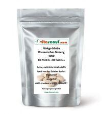 230 Tabletten Ginkgo biloba + Panax Koreanischer Ginseng Mix 4000mg - PN: 010232