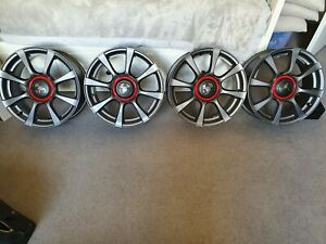 Genuine Fiat 500 Abarth Anthracite alloy wheels- as new x4