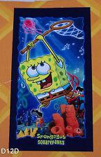 SpongeBob SquarePants Jellyfish Printed Cotton Velour Beach Towel 75x150cm New