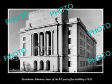 OLD LARGE HISTORIC PHOTO OF TEXARKANA ARKANSAS US POST OFFICE BUILDING c1930