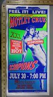 1999 Rock Concert Poster Motley Crue Scorpions Mark Arminski Portland Oregon