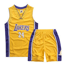 Kids Boys Basketball Jerseys Short Suits Sets Youth Team Sportswear Sports Top Lakers Yellow M