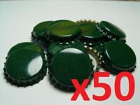 50 Dark Green Home Brew Bottle Crown Caps 26mm Very Good Seal Quality FAST P&P