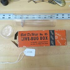 """Vintage Bill Dewitt """"Live Bug Box"""" for fishing lure collection (lot#11129)"""