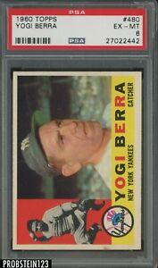 1960 Topps #480 Yogi Berra New York Yankees HOF PSA 6 EX-MT