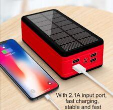 Solar Power Bank Portable Large Capacity Charger LED Waterproof 99000MAh Smartph