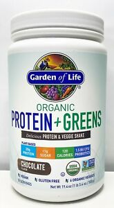 Garden Of Life Organic Protein & Greens Vegan Protein Chocolate 1.34lb 11/2022+