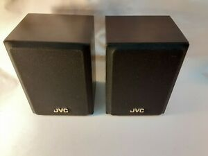Ultra Rare True Vintage JVC SP-XS3WD Wall Book Shelf Speakers Dark Grain