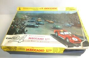 Circuit 24 - Vintage MECCANO Toys France Slot Set T De 1963 - Pista Carreras 1