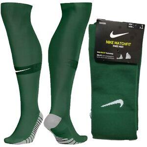 Nike MatchFit DRI-FIT Knee High Dark Green Soccer Socks SX6836-341 Over The Calf