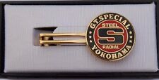 YOKOHAMA TYRE GT SPECIAL STEEL RADIAL TIRES PIN BADGE RARE ADVERTISING PREMIUM