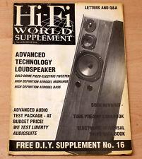 Hi-Fi World fai da te SUPPLEMENTO AGOSTO 1995 N. 16 KLS6 Kit Loud Altoparlante