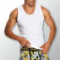 Mens 3 Pack Tradie S-2XL Pure Cotton Tank Singlets White Work or Leisure Wear