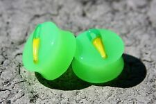 Size 20mm Handmade UNISEX resin Ear Plugs.Free USA shipping!(P-17)