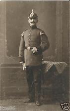 1. Weltkrieg, Militär-Sachsen, Soldat mit Pickelhaube, Musiker, Foto-Ak um 1914