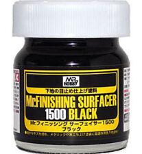 Gunze Sangyo MR HOBBY MR SURFACER Black 1500 LIQUID 40 ml #SF288