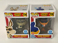 Funko Pop Vinyl Looney Tunes Funko Shop Exclusive Wile E. Coyote Road Runner Set