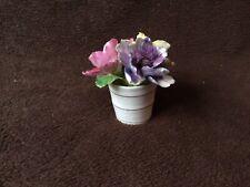Vintage Staffordshire Fine Bone China Flower Pot Figurine