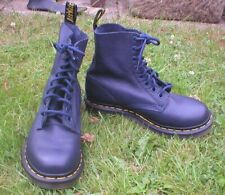 DR MARTENS boots SOFT NAVY LEATHER pascal SZ 4 - NWOB  !!