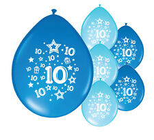 "10 X 10th BIRTHDAY BOY BALLOONS ""10 TODAY"" BIRTHDAY BALLOONS BLUE MIX (PA)"
