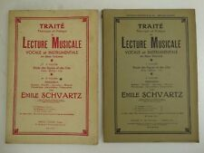 2 TRAITE DE LECTURE MUSICALE VOCALE ET INSTRUMENTALE SCHVARTZ partition
