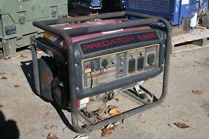 Predator 6500 Gas Generator 8hp 120/240 VAC 74 dB 301cc See video of it running!