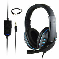 Gaming Headset Stereo Surround Headphone 3.5mm Wired Mic For PS4 Laptop Xbox CH