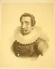 """LITHOGRAPHIE XIX siècle Portrait d'un personnage à identifier annotée """"Lavardin"""""""