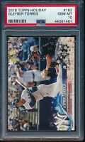 2018 Topps Holiday Gleyber Torres RC Card #182 #HMW182 PSA 10 Gem Mint Rookie
