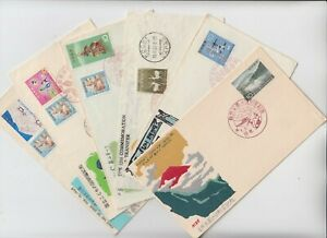 JAPAN 1959/65 6x official illustrated FDCs with special pictorial cancels