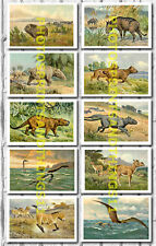 Heinrich Harder Dinosaur Prehistoric Paintings - Collectable Postcard Set # 5