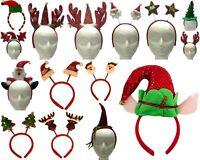 Adult Kids Christmas Headband Hat Costume Xmas Novelty Hair Clip Santa Reindeer