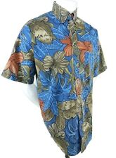 Panhandle Slim Mens Short Sleeve Multi Color Floral Button Front Hawaiian Shirt