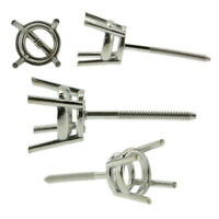 14k White Gold Round Stud Earring Mounting Setting Screw Back Post 4 Prong