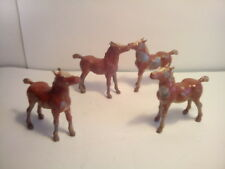 LEAD , HERD OF HORSES  x4 ,  c1950's , LOT 18.I..* U.K.ONLY