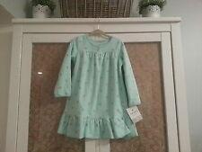 Girls Carters Mint Green Fleece Ruffle Pajama Super Cozy Super Cute Size 2-3
