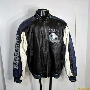 G-III Carl Banks NFL DALLAS COWBOYS Leather Jacket Mens XL insulated zippered