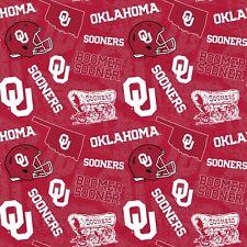 Oklahoma University Sooners OU Cotton Fabric Tone on Tone Print-By the Yard