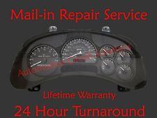 2002-2004 Oldsmobile Bravada Dash Speedometer Gauge Cluster Gauge REPAIR SERVICE