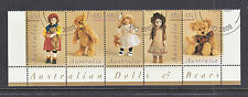 1997 DOLLS AND BEARS STRIP OF 5   SUPERB CTO SET.