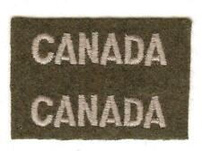 Uncut Pair WWII Canadian Army Canada Battle Dress Shoulder Flashes