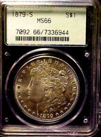 1879-S Morgan Silver Dollar ~ PCGS MS66 ~ AWESOME COIN IN OLD GREEN HOLDER OGH