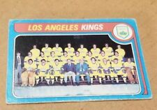 1979-80 OPC # 250 KINGS MARKED TEAM CHECKLIST CREASED CARD