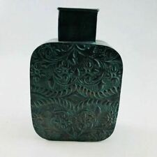 """12"""" Tall Unique Green Metal Decorative Vase with Free Shipping!"""