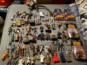 Star Wars Lot Of 60+ Figures And Accessories