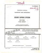 B-58 Escape Capsule System Parts Catalog 1969 Air Force Manual Flight Manual-Cd