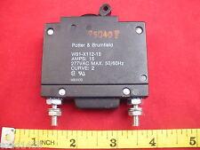 Potter Brumfield W91-X112-15 Circuit Breaker 15 amps 277V AC 50/60Hz 15a Curve:2