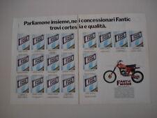 advertising Pubblicità 1980 MOTO FANTIC CROSS 125